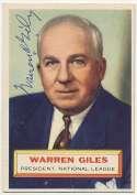 1956 Topps 2 Warren Giles 9.5