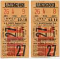 1956 Ticket  NY Giants (6/19/1956) - Matched Pair VG-Ex/Ex