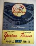 1957 WSP  At Yankees Ex-Mt+