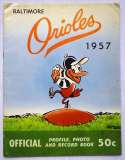 1957 Yearbook  Baltimore Orioles Ex