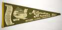 1957 Pennant  Milwaukee Braves World Series Pennant Good