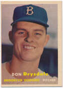 1957 Topps 18 Drysdale RC Ex-Mt oc