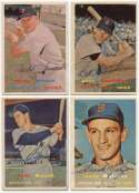 1957 Topps  Collection of 26 different Red Sox Signed Cards 9