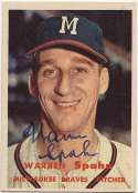 1957 Topps 90 Spahn 9.5