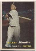 1957 Topps 95 Mantle VG+