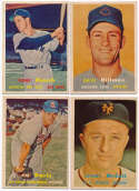 1957 Topps  15 different semi-high #s Ex
