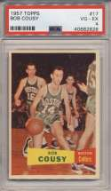 1957 Topps 17 Cousy PSA 4