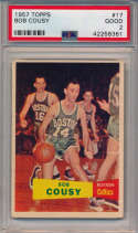 1957 Topps 17 Cousy PSA 2
