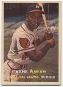 1957 Topps 20 Aaron  Ex