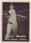 1957 Topps 95 Mantle VG