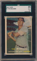1957 Topps 1 Ted Williams SGC 3.5
