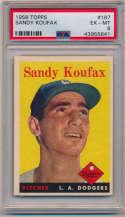 1958 Topps 187 Koufax PSA 6