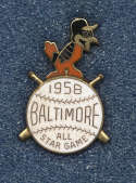 1958 Press Pin  All Star Game NM