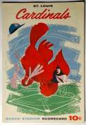 1959 Scorecard  Cardinals (scored vs Pirates) VG-Ex