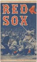 1959 Scorecard  Red Sox (unscored vs White Sox) Ex