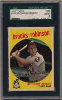 1959 Topps 439 Brooks Robinson SGC 8