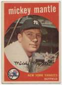 1959 Topps 10 Mantle VG Ctd
