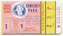 1959 Ticket  World Series Game 1 VG+