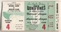 1959 Ticket  World Series Game 4 VG+