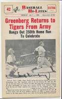 1960 Scoops 42 Hank Greenberg 9.5 JSA LOA