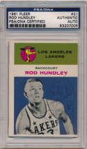 1961 Fleer 21 Rod Hundley (signed) 8
