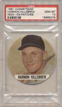 1961 Chemstand Iron On Patches 6 Harmon Killebrew PSA 10