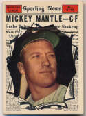 1961 Topps 578 Mantle AS Ex