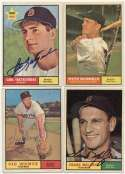 1961 Topps  Collection of 33 different Red Sox signed cards w/Yaz & 2 Jensens 9