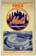 1962 Scorecard  Mets First Home Game Ex