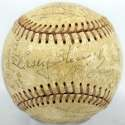 1962 Mets  Team Ball w/Stengel & Hodges 5.5 JSA LOA (FULL)