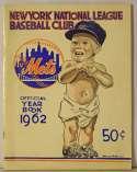 1962 Yearbook  New York Mets Ex