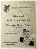 Program  1964 Pirates Program w/2 Clementes (61 signatures!) 9 JSA LOA