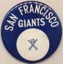 1962 3 inch Pin  San Francisco NM