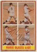 1962 Topps 313 Roger Maris 61 Home Run 8 JSA LOA