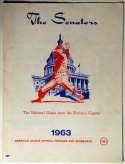 1963 Scorecard  Senators (scored vs White Sox) Ex