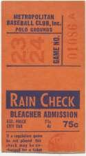 1963 Ticket  NY Mets (5/30/1963) Ex mk
