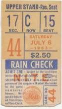 1963 Ticket  NY Mets (7/6/1963) GVG