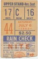 1963 Ticket  NY Mets (7/6/1963) Good