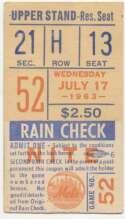 1963 Ticket  NY Mets (7/17/1963) Ex