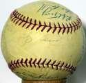 1963 Yankees  Team Ball 7