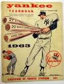1963 Yearbook  New York Yankees   VG