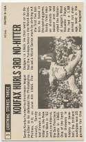 1964 Topps Giant 3 Koufax(SP) 9  JSA LOA
