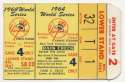 1964 Ticket  World Series Game 4 Ex+