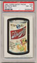 1967 Wacky Packs 18 Schmutz Beer PSA 8