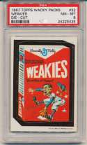 1967 Wacky Packs 32 Weakies PSA 8