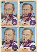 1968 Topps 385 Jim Hunter (lot of 10) 9