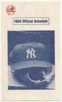 1969   NY Yankees Pabst Beer Schedule NM