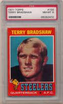 1971 Topps 156 Terry Bradshaw RC PSA 8