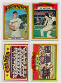 1972 Topps  17 different high #s w/minors NM