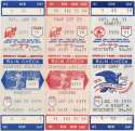 1975   Collection of 23 Red Sox Full Tickets 1975-1991 Ex-Mt/NM